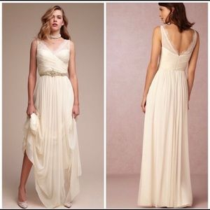 BHLDN fleur dress ivory